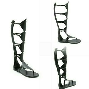 Sigerson Morrison Python Leather Gladiator Sandals